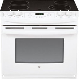 """GE - JD630DFWW 30"""" Drop In Electric Range With Flush Appearance  Big View Oven Window - The JD630 comes with a big View Oven Window so you can see the progress of your food as it cooks to perfection"""