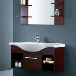 "Atrani - Modern Bathroom Vanity Set 49.6"" - The Atrani is a contemporary bathroom vanity set that embraces the latest trend in luxury modern bathroom design."