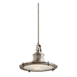 Kichler - Kichler 42437AP Sayre Single-Bulb Indoor Pendant with Cone-Shaped Metal Shade - Product Features: