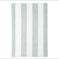 PB Classic Stripe 650-Gram Weight Jacquard Hand Towel, Porcelain Blue - Wide stripes adorn our PB Classic Stripe Bath Towels. At a hefty 650 grams, the absorbent Turkish terry towels are yarn dyed for exceptional softness. 650-gram weight. Combed cotton ensures long, uniform fibers. Plush, soft towels have superior loft and absorbency. Features pleated dobby trim. Hand and bath towels may be monogrammed. Coordinates with the Pottery Barn Classic Bath Collection. Machine wash. Oeko-Tex certified, the world's definitive certification for ecologically safe textiles. Made in Turkey. Catalog / Internet only.
