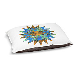 """DiaNoche Designs - Dog Pet Bed Fleece - Fried Holiday Sun - DiaNoche Designs works with artists from around the world to bring unique, designer products to decorate all aspects of your home.  Our artistic Pet Beds will be the talk of every guest to visit your home!  BARK! BARK! BARK!  MEOW...  Meow...  Reallly means, """"Hey everybody!  Look at my cool bed!""""  Our Pet Beds are topped with a snuggly fuzzy coral fleece and a durable underside material.  Machine Wash upon arrival for maximum softness.  MADE IN THE USA."""