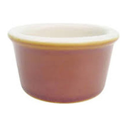 CAC China - 2.5 oz Brown/White Round Ramekin 48 Ct - Descriptions: C.A.C China provides durable dinnerware at all levels including super white porcelain fine bone china American white chinacolored glaze china and Asian style china. C.A.C China offers a variety of innovative shapes from square rectangular triangular wavy to round that will brighten up any tables for modern trendy restaurants hotels resorts clubs caterers cruises etc. All C.A.C China products are oven microwave and dishwasher safe.