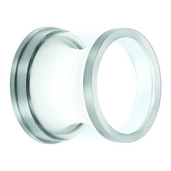 CSL - Gravity 5 Outdoor Wall or Ceiling Mount - Gravity 5 Outdoor Wall or Ceiling Mount is made of  diecast aluminum in Satin Aluminum or Bronze finish with an opal glass inner diffuser and clear glass outer cylinder. General light distribution. Available in a 5 inch xenon or LED and 8.5 inch diameter fluorescent version. Requires one 35 watt 120 volt G8 xenon lamp not included or one 9 watt 120 volt LED, 2800K, 85CRI, 450 lumens included. Dimensions: 5 inch diameter x 4 inch height. ADA compliant when used as a wall sconce. UL listed for wet locations. Xenon version is steam rated.