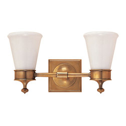 Visual Comfort & Co. - Visual Comfort & Co. SS2002HAB-WG Studio Siena 2-Light Bathroom Vanity Lights - This 2 light Bath Wall Light from the Studio Siena collection by Visual Comfort will enhance your home with a perfect mix of form and function. The features include a hand-rubbed antique brass finish applied by experts. This item qualifies for free shipping!