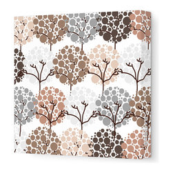 "Avalisa - Imagination - Park Stretched Wall Art, 12"" x 12"", Brown - To inspire your little one's imagination and encourage his love of nature, simply hang this stretched wall art in his favorite space. Delicate trees with bubbly blooms are guaranteed to bring smiles and sweet daydreams."