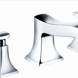 Hansgrohe - Hansgrohe 31313001 Metris C Tub Filler Trim - Trim, 3-Hole Roman Tub Set