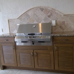NatureKast Outdoor Kitchen Cabinetry - These Outdoor Kitchen cabinets will not fade, warp, cracking, weathering of any type and with virtually no maintenance. We have cabinets installed on the roof top balconies of homes on the Gulf of Mexico in full exposure to the salt air and sun has have not been effected at all by the elements.