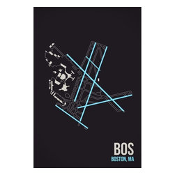 08 Left - 008 Left BOS - Boston Metal Print - As good as it gets. Ready to hang. Absolutely stunning and tough as rocks.