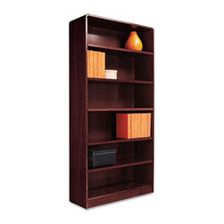 Alera - Alera BCR67236MY Aleradius Corner Wood Veneer Bookcase - Mahogany Brown - ALEBCR - Shop for Bookcases from Hayneedle.com! About AleraWith the goal of meeting the needs of all offices -- big or small casual or serious -- Alera offers an excellent line of furnishings that you'll love to see Monday through Friday. Alera is committed to quality innovative design precision styling and premium ergonomics ensuring consistent satisfaction.