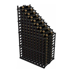 Wine Cellar Innovations - Designer Series Wine Rack - Waterfall Individual Display - Individual bottle wine storage cascading down with a waterfall of display bottles on top. The waterfall starts at 19 rows and drops down to 11 rows. The waterfall is available in three distinct options. You can have a double deep waterfall display come out from a wall to the center of a room for a dramatic display effect.
