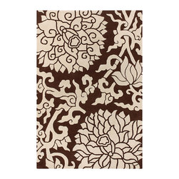 Thomas Paul - Thomas Paul Blossom Chocolate Wool Rug - The retro hip vibe of Thomas Paul hallmarks the Blossoms rug with a striking, modern design of entangled blooms and vines in brown and cream. Hand-tufted from premium New Zealand wool for maximum sheen, a luxurious soft feel and true longevity. Available in several sizes; 100% New Zealand wool with cloth backing; Strong, resilient and static resistant for use in high-traffic areas; Some difference in color, size or shape is consistent with the nature of handmade products; Shedding is characteristic of fine wool and part of the natural wear-in process