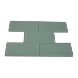 "Loft Seafoam Polished Glass Tiles - SAMPLE - LOFTSEAFOAM POLISHED3X6 GLASS TILES 1 PIECE SAMPLE You are purchasing a 1 piece sample measuring approximately 3 "" x 6"". Samples are intended for color comparison purposes, not installation purposes.-Glass Tiles -"