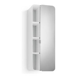 WS Bath Collections - 31.9 in. Bathroom Cabinet in White - Contemporary design. Three shelves. Mirrored door. Designer high end quality. Warranty: One year. Made from plywood and stainless steel. Made in Italy. 12 in. W x 8.1 in. D x 31.9 in. H (30 lbs.). Spec Sheet