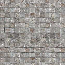 "Unicomstarker - Quarzite Grey 1"" x 1"" Mosaic - This Italian porcelain line from UnicomStarker replicates quartzite stone with liveliness and splendor. Highly influenced by light, the quartzite line's products turn floors into pure emotion."