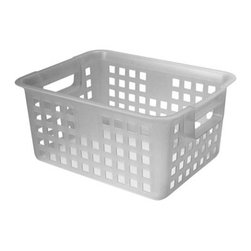 IRIS USA, Inc. - Small Mesh Basket, Clear - These baskets are versatile and have several applications throughout the home can be used for organizing drawers, cabinets, closets and much more. These high quality stylish baskets can be used for storing just about anything. Our Baskets come in a variety of sizes and are great .