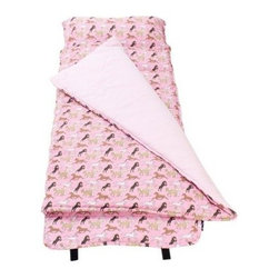 Wildkin Classic Collection Horses in Pink Nap Mat - The Wildkin Classic Collection Horses in Pink Nap Mat has been rigorously tested to ensure that all parts are lead-free, bpa-free, phthalate-free, and conform to all rules and regulations set forth by the Consumer Products Safety Information Act. This product is naturally flame-resistant and is not treated with chemicals. Conforms to the U.S. flammability test requirements for sleeping bags as set forth in CPAI-75.About WildkinUnpacking the world of children's luggage, Wildkin offers a wide collection of outrageously fun and fantastically practical bags, backpacks, mats, sleeping bags, and more. Each Wildkin piece is available in over 30 unique patterns so parents can be sure to match individual tastes with personalized designs. As safe as they are dynamic, all Wildkin products are crafted with durable, kid-safe materials and tested to ensure the highest quality.