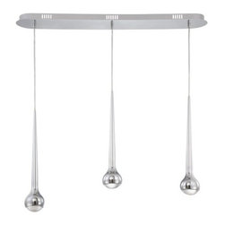 Eurofase Lighting - Eurofase Lighting 22961 Micro 3 Light Pendant - Eurofase Lighting 22961 Micro 3 Light PendantThis LED pendant from the Micro Collection offers practical illumination and contemporary style. The hand polished chrome fixture lends a modern vibe to any space. The LED bulbs shine through polycarbonate fresnal diffusers.Eurofase Lighting 22961 Features: