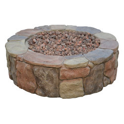 Bond - Bond 66600 Petra Gas Fire Pit - This classic pit design will go marvelously with everything. Whether your tastes are modern minimalist or rural rustic, The Petra will be the perfect outdoor accessory. You will take pleasure in a fireside visit with your favorite guests while basking in the glow of a cozy fire.