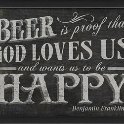 The Artwork Factory - Beer is Proof Framed Artwork - Ready-to-Hang, 100% Made in the USA, museum quality framed artwork