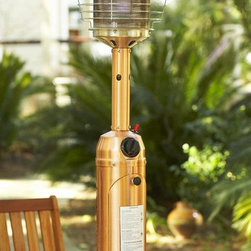Home Decorators Collection - Tabletop Propane Patio Heater - The Tabletop Propane Patio Heater will add warmth and ambience to your outdoor dining. Lightweight and portable, you can also place it on a patio side table and stores easily when not in use. Create the perfect setting with our outdoor accessories; order today.This 10,000 BTU tabletop heater has an attractive, durable finish.Has easy one-step ignition and includes a safety grill guard.Features auto-shutoff tilt valve for extra safety.Is ODS compliant and CSA approved.
