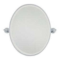 Minka-Lavery - Minka-Lavery Pivot Mirrors Oval Mirror - Beveled - 1431-77 - This Mirror has a Chrome Finish.