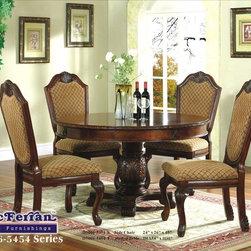 McFerran Home Furnishings - Brown Round Formal Dining Table - D5006-5454 - McFerran Home Furnishings - Brown Round Formal Dining Table - D5006-5454