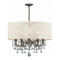 Crystorama - 5535-PW-SAW-CLS Crystorama Brentwood - In what is sure to be a timeless trend, designers and style-conscious homeowners are using mini-chandeliers in every room of the house, squeezing glamour and light into even the smallest places.