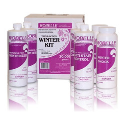 Robelle - Robelle Pool Triple Action Winterizing Kit Multicolor - 3415 - Shop for Cleaning and Maintenance from Hayneedle.com! The Robelle Pool Triple Action Winterizing Kit gives you everything you need to winterize your pool this kit includes a quart of Robelle Winterizer a concentrated chemical that keeps water clear and odor-free. It also includes two pounds of Winter Shock a 100% water soluble non-chlorine treatment that rids your pool of contaminants. It also includes a quart of Robelle Anti-Stain Control which removes stains scale build up and discoloration.About Robelle IndustriesSince 1973 Robelle Industries has been providing superior dependable and affordable swimming pool products. They have painstakingly built a line of quality swimming pool products that include pool chemicals pool accessories and everything in between. Robelle is dedicated to finding new product formulations that meet superior standards of pool chemical efficacy and product durability so your pool is safe crystal clear and healthy.