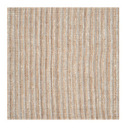 Safavieh - Mopani Natural Fiber Rug, Grey / Natural 6' X 6' Square - Think coastal living and casual beach house style with rugs so classic they'll even work in the city.  Safavieh's natural fiber rugs are soft underfoot, textural, natural in color and woven of sustainably-harvested sisal and sea grass, or biodegradable jute.