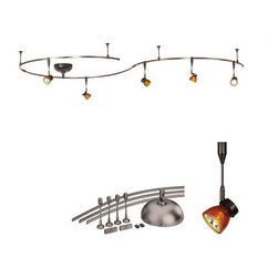 "WAC Lighting - WAC Lighting LM-K8111-AS/DB Amber / Bronze Monorail Complete Kits - WAC Lighting LM-K8111 Monorail Track Kit  Complete Monorail Kit with everything needed for complete installation Track Heads are pre-fitted with Monorail Adaptors for simplified installation Includes 5 - QF-194x3 with Amber Glass Shades Includes 3 Field Cuttable 42"" rails with connectors  Rail is hand bendable into many shapes  All transformers and standoffs included for normal ceiling installation  System can not be modified or added to"