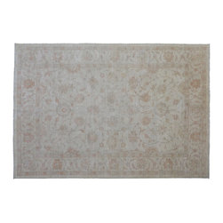 1800-Get-A-Rug - Peshawar Oriental Rug Stone Wash Hand Knotted Rug Sh9326 - About Oushak and Ziegler Mahal