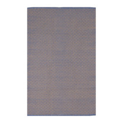 Fab Habitat - Fab Habitat - Indoor Cotton Rug - Karma - Almond & Blue, 2' X 3' - Fab Habitat brings you a stylish collection of rugs made from recycled cotton. These handcrafted flat weave cotton rugs have subtle elegance with simple and classic designs. They are perfectly suited to bring comfort to a modern space. The rugs are made to withstand everyday use and are extremely easy to take care of. These rugs are made using sustainable practices and dyes, which are safe for the environment.