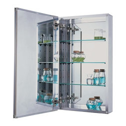 Pegasus - Beveled Mirror 15 in. Medicine Cabinet - SP45 - Manufacturer SKU: SP4580. Includes side mirror and hanging kit. Rust-free aluminum case with beveled mirror. Self-closing hinges open upto 110 degree. Recess and surface mount. 15 in. W x 5 in. D x 26 in. H (24.8 lbs.)