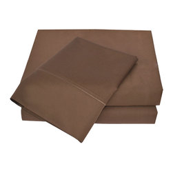 "600 Thread Count Cotton Sheet Set - Full - Chocolate - These 600 thread count cotton sheets feature are available in 4 different colors. Each Set comes with a Flat sheet 81x96"", a Fitted Sheet 54x75"", and two Pillowcases 20x30""."