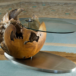 Genteel Tranquility - Rio Verde - Custom designed root ball cocktail / side table