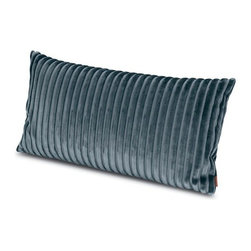 Missoni Home - Missoni Home | Quick Ship: Coomba Grey Pillow 12x24 - Design by Rosita Missoni.