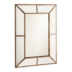 Looking Glass - Really lovely mirror, ornate and simple at the same time. Would look fantastic in an entry hall or bathroom mixed with more modern furnishings for some contrast or traditional pieces.