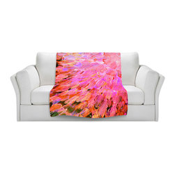 DiaNoche Designs - Throw Blanket Fleece - Sea Scales in Pink - Original Artwork printed to an ultra soft fleece Blanket for a unique look and feel of your living room couch or bedroom space.  DiaNoche Designs uses images from artists all over the world to create Illuminated art, Canvas Art, Sheets, Pillows, Duvets, Blankets and many other items that you can print to.  Every purchase supports an artist!