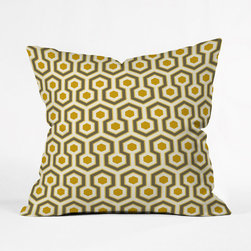 Pistachio Honeycomb Throw Pillow Cover - This design was a hit back in the day. It's made a comeback, so pour yourself a cold martini, grab this cozy pillow cover, and watch a season of your favorite mid-century television show.