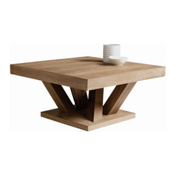 "Sunpan Modern - Madero Coffee Table - Features: -Square shape.-Inspired by groups of tree trunks sprouting from the earth.-Gives the table an almost organic look while the clean lines remain very modern.-Please note that although every attempt has been made to ensure accuracy, all overall dimensions are approximate and colors may vary.-Madero collection.-Top Finish: Driftwood.-Distressed: Yes.-Style: Transitional.-Wood Tone: Light.-Powder Coated Finish: No.-Gloss Finish: No.-Wrought Iron: No.-Top Material: Wood.-Number of Items Included: 1.-Non-Toxic: Yes.-UV Resistant: No.-Scratch Resistant: No.-Stain Resistant: No.-Moisture Resistant: No.-Design: Square.-Drop Leaf: No.-Shape: Square.-Lift Top: No.-Tray Top: No.-Storage Under Tabletop: No.-Folding: No.-Magazine Rack: No.-Built In Clock: No.-Powered: No.-Nested Stools Included: No.-Casters: No.-Exterior Shelves: No.-Cabinets Included: No.-Drawers Included: No.-Corner Block: No.-Cable Management: No.-Adjustable Height: No.-Glass Component: No.-Upholstered: No.-Outdoor Use: No.-Swatch Available: No.-Commercial Use: Yes.Dimensions: -17.5"" H x 35.5"" W x 35.5"" D.-Overall Height - Top to Bottom: 17.5"".-Overall Width - Side to Side: 35.5"".-Overall Depth - Front to Back: 35.5"".-Table Top Thickness: 3"".-Table Top Width - Side to Side: 35.5"".-Table Top Depth - Front to Back: 35.5"".-Drawers: No.-Shelving: No.-Cabinets: No.-Legs: -Leg Height - Top to Bottom: 12""..Warranty: -Item is deemed acceptable for both residential and nonresidential environments such as restaurants, hotels, lounges, offices and reception areas. Please note that this item carries the manufacturer's standard one year warranty from the date of purchase. Please contact Wayfair customer service or sales representatives for further information."