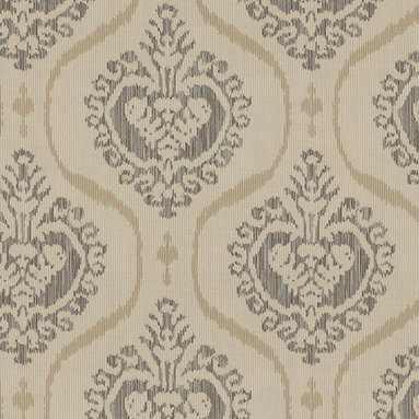 Sunbrella - Floral Pewter Fabric, Taupe fabric, Sunbrella fabric - Description