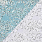 Renovators Supply - Wallpapers White Vinyl Textured Vinyl Embossed Wallpaper | 98071 - Wallpaper. This vinyl wallpaper is made in England. It features beautiful Victorian style embossed motif print. Easy to maintain it is scrubbable- strippable and peelable. This wallpaper is NOT pre-pasted and requires a good quality heavy duty adhesive paste- sold separately. This wallpaper has paper backing. Installation instructions are included. Packaged as a double roll you benefit from longer continuous lengths of usable paper at a great value. Measures 11 yards x 20 1/2 in. W for 56 square feet of usable paper. Vertical repeat is 4 1/4 in. up and down. Horizontal repeat is 5 1/8 in. across.