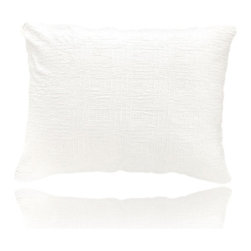 Pine Cone Hill - baja white matelasse pillow (28x37) - Interlocking rectangles of soft cotton are an unexpected, textural touch, on a goes-with-anything neutral pillow.��This item comes in��white.��This item size is��37w 28h.