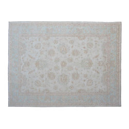 Oriental Rug, 100% Wool Fine Peashawar 10'X14' Hand Knotted Rug SH11358 - Hand Knotted Oushak & Peshawar Rugs are highly demanded by interior designers.  They are known for their soft & subtle appearance.  They are composed of 100% hand spun wool as well as natural & vegetable dyes. The whole color concept of these rugs is earth tones.