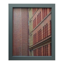 "Study For Gotham Windows 1434, Original, Mixed Media - ""digitally manipulated photography, pigment printing on silk, hand quilting, gallery wrapped on stretched canvas, framed"""