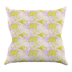 "Kess InHouse - Alison Coxon ""Yellow"" Throw Pillow (16"" x 16"") - Rest among the art you love. Transform your hang out room into a hip gallery, that's also comfortable. With this pillow you can create an environment that reflects your unique style. It's amazing what a throw pillow can do to complete a room. (Kess InHouse is not responsible for pillow fighting that may occur as the result of creative stimulation)."