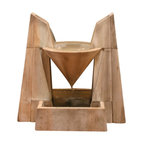 Daccapo Garden Fountain, Ancient - If you are looking for a fountain with great noise, look no further. As one of our best noise makers, the Daccapo gives a great new look to the yard while giving the sound you desire. The water flows from the top through the funnel to generate this effect.