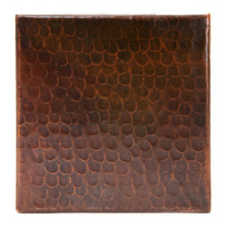 "Premier Copper Products - 6"" x 6"" Hammered Copper Tile - 6"" x 6"" Hammered Copper Tile"