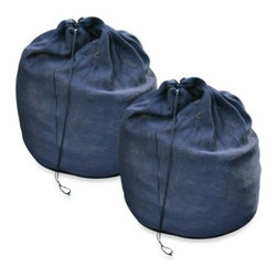 Riverstone Industries - Riverstone Portable Composting Sacks - Enjoy an easy and cost-effective way to make fresh, nutrient-rich, black gold for your lawn and garden in under 90 days with the Portable Composting Sacks from Riverstone.