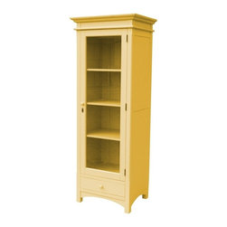 EuroLux Home - New Tall Boy Chest of Drawers Yellow Painted - Product Details